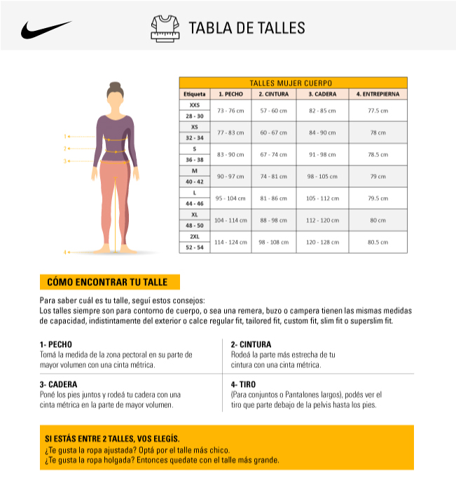 talles-nike-mujer