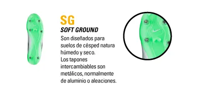 TIPO DE BOTIN SG SOFT GROUND